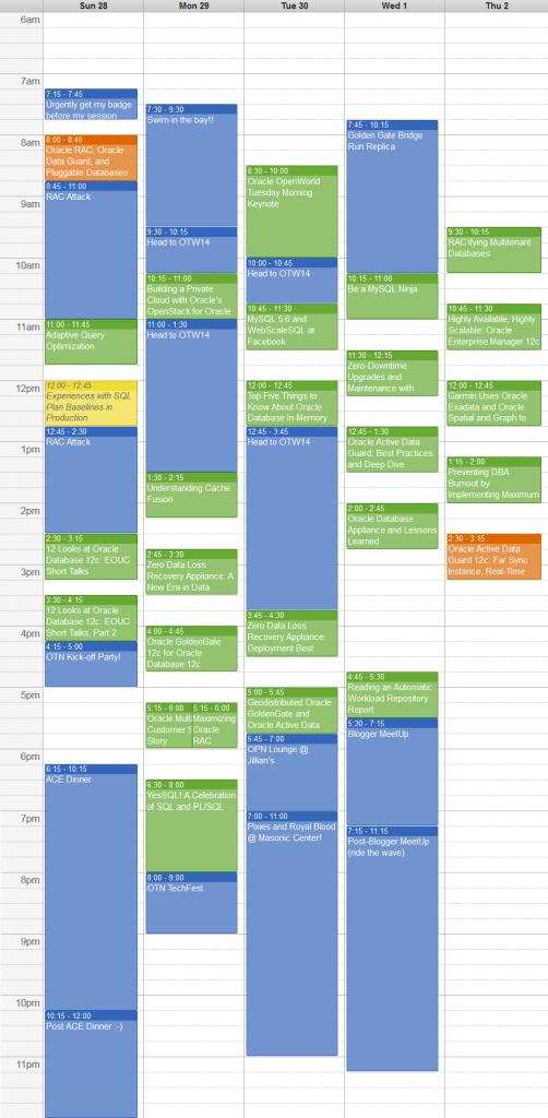 OOW14_Schedule