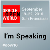 I'm speaking at #OOW16